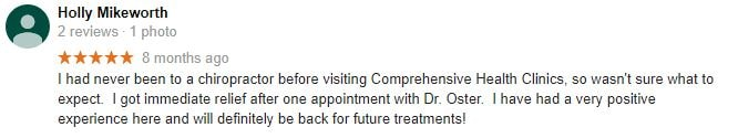 Comprehensive Health Clinics Patient Testimonial